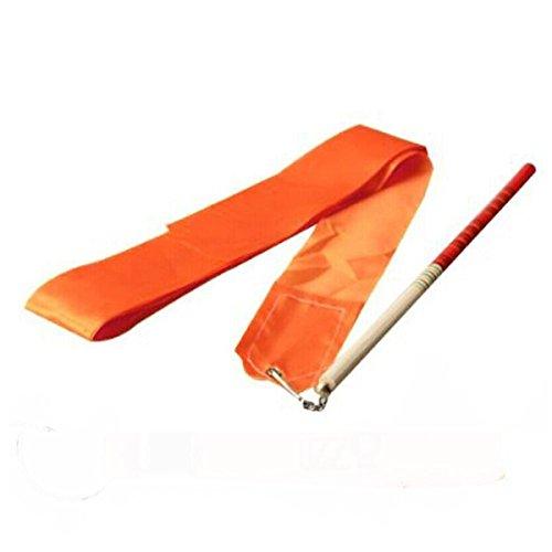 Fletion 4 m palestra danza nastro ritmica ginnastica artistica colorata nastri Ballet streamer Twirling rod stick