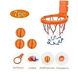 Fossenlea Juguetes de Baño Mini Cesta de Baloncesto Niño, Mini Baloncesto aro Set y 3 Pelota con Ventosa Fuerte Interior, Regalos para Bebé Niños Niñas
