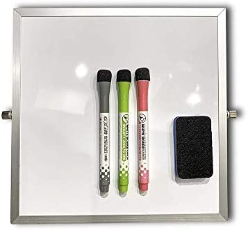 Small Dry Erase White Board with Stand Desktop Whiteboard 10 X10 Double Sided Portable Mini product image