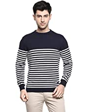 Red Chief Men's Casual Solid Sweater (Navy)