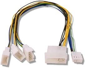 Fan Splitter 4 pin Molex > 3 Qty PWM headers 30cm Long Connect Multiple PWM Fans