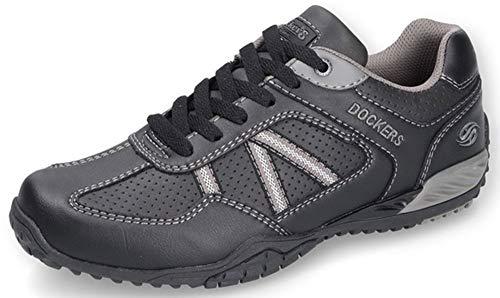 dockers Herren Sneakers Low | Freizeitschuhe | Sportschuhe | Herrenschuhe | Laufschuhe | Low Top Schwarz 43 EU