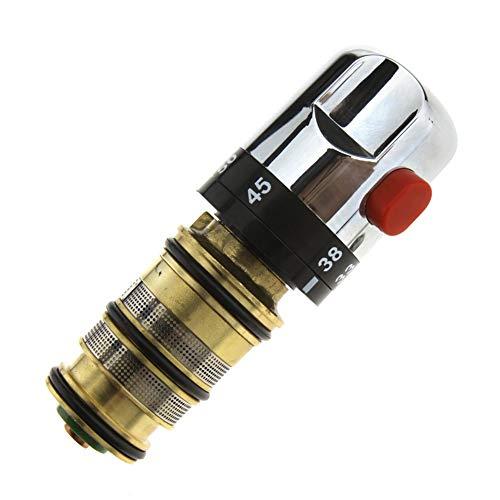 Thermostatventil, Kupfer-Thermostat-Duschkartusche, Gewinde-Thermostat-Mischbatterie, Duschventil, Ersatzreparatur-Set (1 Stück)