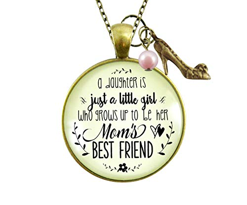 gutsy goodness friend pendants Gutsy Goodness Mother Daughter Necklace She Grows Up To Be Mom's Best Friend Jewelry Gift 24