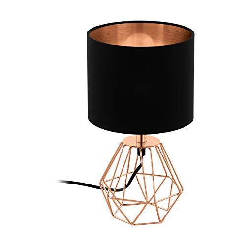 EGLO tafellamp staal E14, koper, zwart 16,5 x 16,5 x 30,5 cm