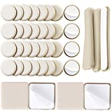 Liyic 40Combo Pack Self-Stick Carpet Gliders for Chair-32PCS 1-1/4inch Self Adhesive Furniture Glides,4PCS 2.5in. Square Furniture Gliders&4PCS 1/2'X4' Bar Furniture Moving Slider-Furniture Slider