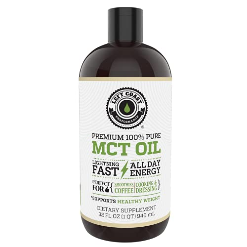 MCT Oil Keto derived only from Sustainable Coconuts (32oz). C8 and C10. Keto Diet | Paleo Friendly. Each Batch is Independently Tested (32oz)