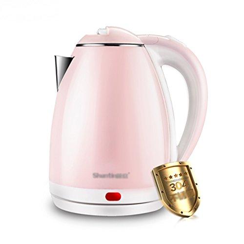 Bouilloire électrique 304 en acier inoxydable, anti-hot automatique, alimentation vers le bas de 1,8 litres grande capacité Bouilloire d'eau ( Couleur : Rose )