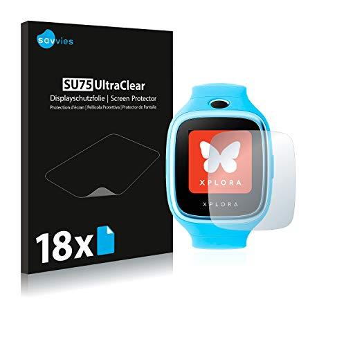Savvies 18x Schutzfolie kompatibel mit Xplora 3S Bildschirmschutz-Folie Ultra-transparent