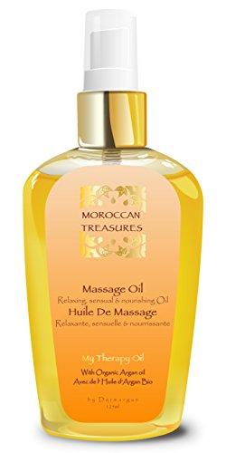 Huile de Massage Sensuelle et Aphrodisiaque à l'Huile d'Argan et aux Huiles Essentielles - Huile...