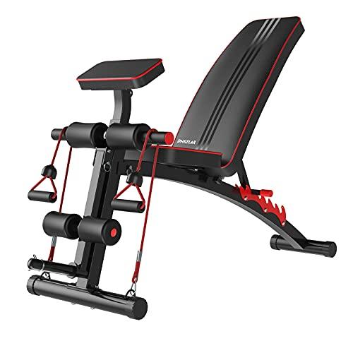 Banco de pesas ajustable, banco de entrenamiento plegable, banco de pesas multifuncional, banco de abdominales 3 en 1 para el hogar, banco de ejercicios en casa