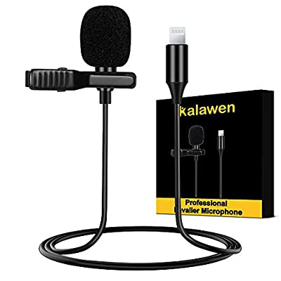 Kalawen Lavalier Microphone Omnidirectional Microphone Kit