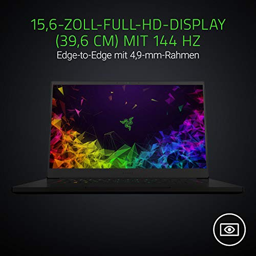Razer Blade 15 Advanced Model 2019 (15.6 Zoll Full-HD Display) Gaming Notebook (Intel Core i7-8750H, 16GB RAM, 512GB SSD, NVIDIA GeForce RTX 2080 Max-Q, Win 10, DE-Layout), schwarz