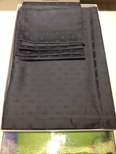 Nappe rectangulaire 12 x 12 serviettes avec personnes Anthracite