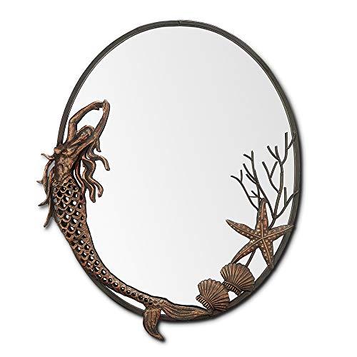 Mermaid Oval Wall Bathroom Mirror