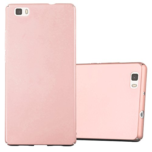 Cadorabo Funda para Huawei P8 Lite 2015 en Metal Oro Rosa - Cubierta Protección de Plástico Duro Super Delgada e Inflexible con Antichoque - Case Cover Carcasa Protectora Ligera