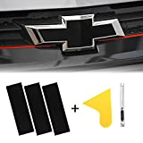 YAMUDA Compatible with DIY 11.8' x 4' Chevy Bowtie Emblem Wrap Logo Kit Sticker with Spatula and Cutter Universal 3Pcs