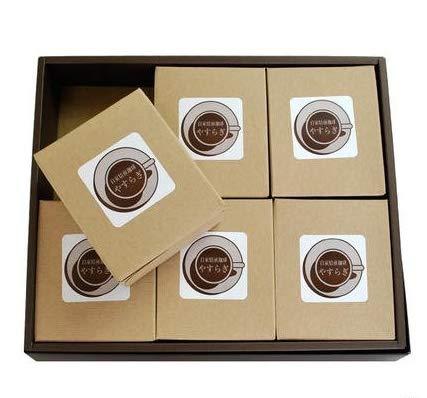 自家焙煎珈琲やすらぎ 厳選 極上の珈琲 ギフトセット 高級 ドリップバッグ コーヒー豆 ギフトセット (ギフトD)
