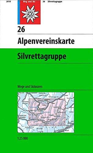 Silvrettagruppe: Wege und Skitouren (Alpenvereinskarten)