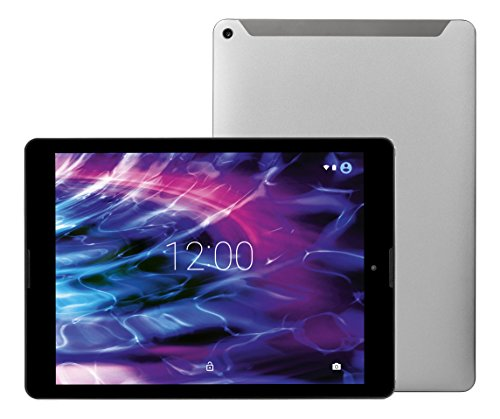 MEDION P9702 24,6cm (9,7 Zoll QHD Display) Tablet-PC (Rockchip Quad Core 1,8GHz, 2GB RAM, 32GB Speicher, Bluetooth, GPS, WLAN, Android 7.1.2) titan
