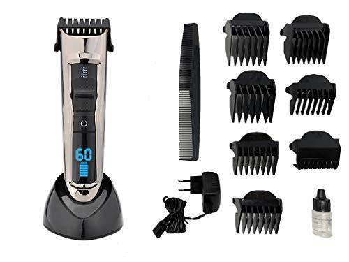 Pritech 6 en 1, Cortapelos Electrónico Recortadora Hombres Maquina Cortar Pelo Cortadora de Pelo Recargable de 1300 MA Máquina Afeitar de Barba/Cara