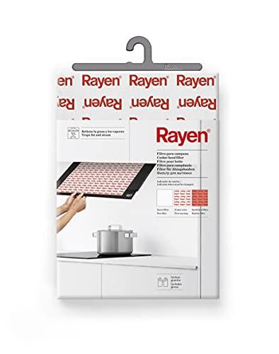 Rayen, 57 x 47 cm campaña Universal para Cualquier Campana | Filtro Recortable | Incluye Guante | con indicador de Cambio, Blanco