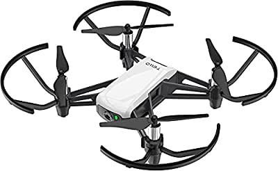 DJI Tello Ryze - Mini Drone Ideal for Short Videos with EZ Shots, Vr Goggles and Game Controller Compatibility, 720P HD Transmission and 100 Meter Range