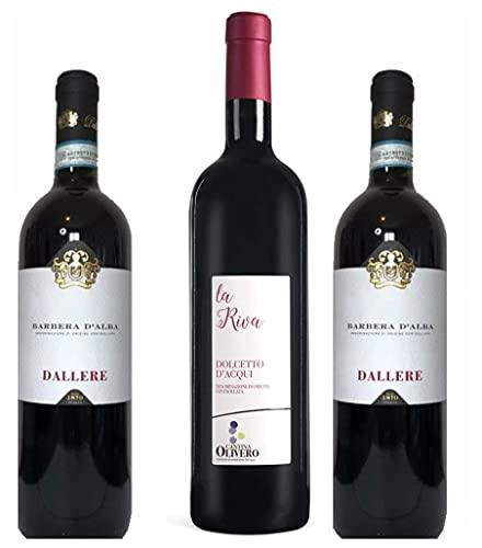 Selezione 3 Vini Rossi Piemontesi (Barbera d'Asti,Dolcetto d'Acqui, Barbera d'Alba)