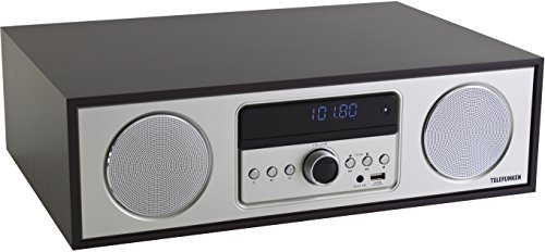 Telefunken MC2000D Musikanlage mit CD-Player, Digitalradio und Bluetooth-Lautsprecher (DAB+, UKW, MP3, USB, Sleep-Timer AUX-In)