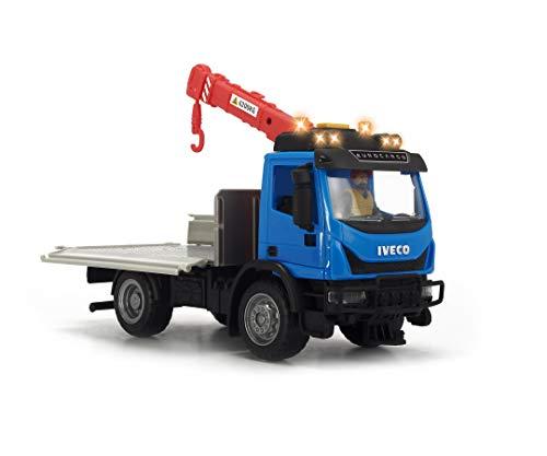 Dickie Toys Playlife-Recycling Container Set, Kranfahrzeug Iveco Eurocargo inkl. Spielfigur, 2 Recyclingcontainer, Flaschen, Werkzeug, Sicherheitskleidung, inkl. Batterien, 29 cm, ab 3 Jahren