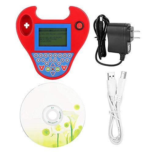 Suuonee Car Key Programmer, 110-240V Zed-Bull Auto Key Programmer Transponder Match Mini Smart Tool with US Plug (Red)