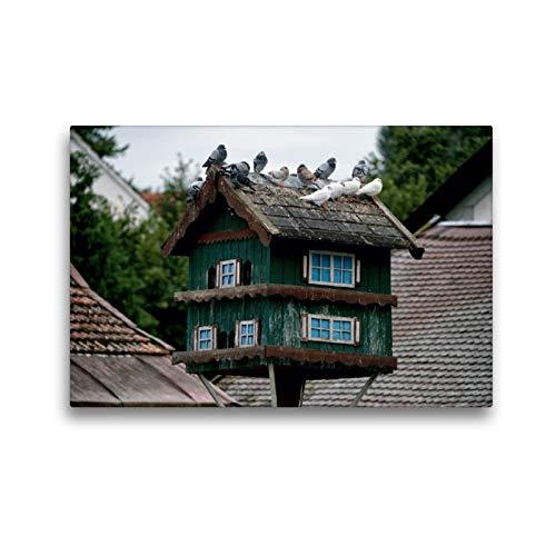 CALVENDO Premium Textil-Leinwand 45 x 30 cm Quer-Format Taubenhäuser aus dem Dachauer Land, Leinwanddruck von Dieter Isemann