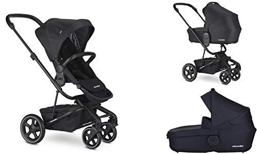 Easywalker Harvey² Premium Set Kinderwagen mit Sitz und Babywanne – Onyx black/schwarz