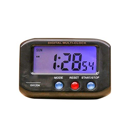 Ssbhjxb Reloj de Escritorio electrónico portátil Reloj de Alarma electrónico Digital LCD Pantalla de Datos Tiempo Calendario Calendario Dormitorio Small Desk Relk Despertador (Color : NO5)