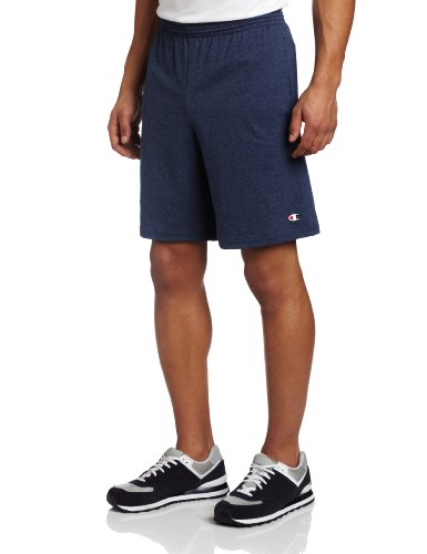 Champion Men's Jersey Short With Pockets, Navy Heather, Small