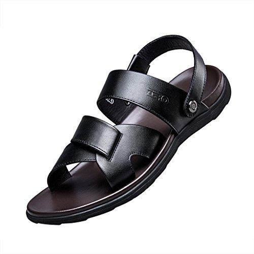 ZRO Men's Summer Casual Comfortable Flat Beach Sandals BLACK US 8