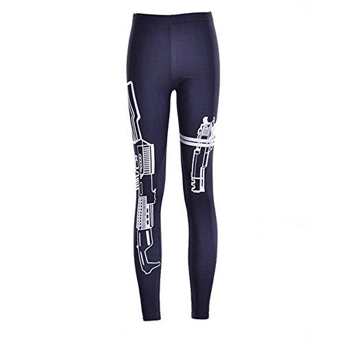 Discount Boutique Frauen Yoga Hosen Digitaldruck Muster Workout Fitness Laufen Leggings Stretch Skinny Pants Blau