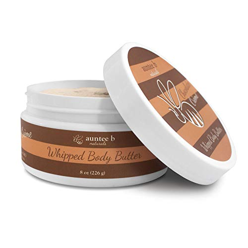 All Natural Whipped Body Butter (Chocolate Creme) by Auntee B Naturals | Made with Shea Butter, Mango Butter, Coconut Oil, Kokum Butter | Nourishes and Moisturizes Dry Skin | Vegan and Cruelty-Free