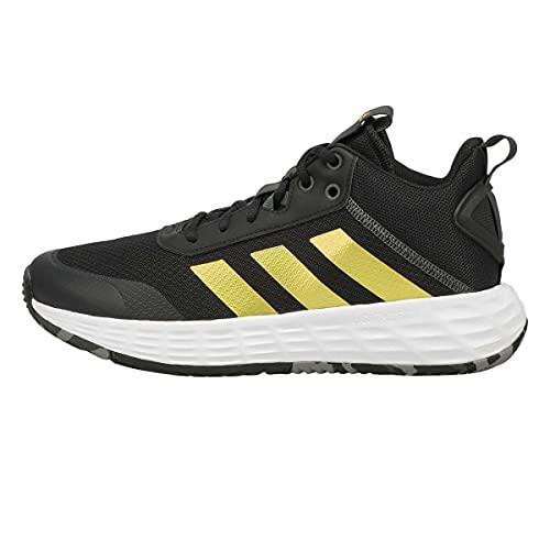adidas Zapatos de baloncesto Ownthegame 2.0 para hombre, Negro/dorado/gris (black/gold metallic/grey), 48 EU