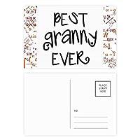 これまでに最高のおばあさんの引用符の家族を祝福する 公式ポストカードセットサンクスカード郵送側20個