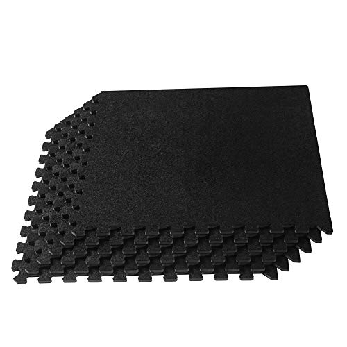 We Sell Mats Unisex's CRT-Standard 24 x 24 x 3/8 Inch Carpet Top Mat, Black, 24 Square Feet (6 Tiles)