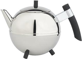 Bredemeijer meteor tekanna med svarta beslag, rostfritt stål, silver, 25 x 17 x 16 cm
