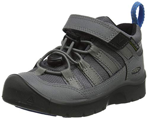 KEEN Hikeport 2 Low Height Waterproof Walking-Schuh, Stahlgrau Brillantblau, 34 EU