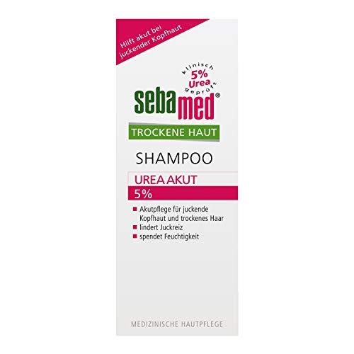 Sebamed Trockene Haut Shampoo Urea Akut 5%, 200 ml, lindert spürbar Juckreiz bei trockener Kopfhaut und hilft, die natürliche Feuchtigkeitsbalance von Haut und Haar wieder herzustellen