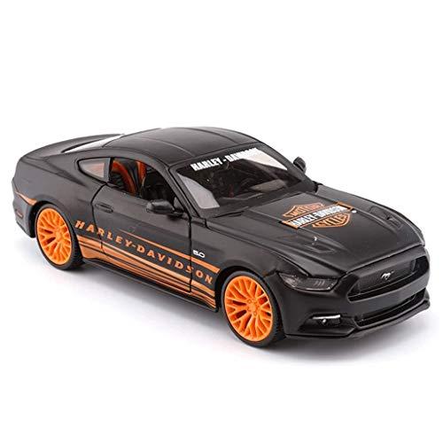 hclshops Modelo de Coche Ford Mustang Coche de Deportes de 1:24 simulación de fundición a presión de aleación de Regalos de los niños de Juguete Modelo de Coche