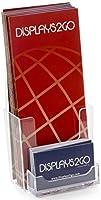 マーケティングホルダー48のセット、卓上パンフレットホルダー組み込みシングルポケットビジネスカードホルダー、クリアアクリル
