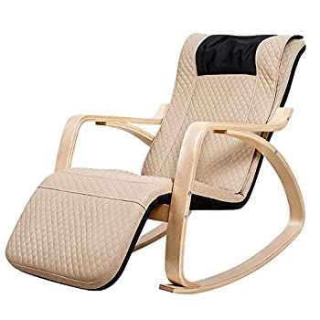 Alderman Massage Chair Rocking Recliner Massage Chair  Shiatsu Hips Vibration and Rolling Massage for Body Relaxation Lounge Chair Adjustable Footrest for Home Office Use