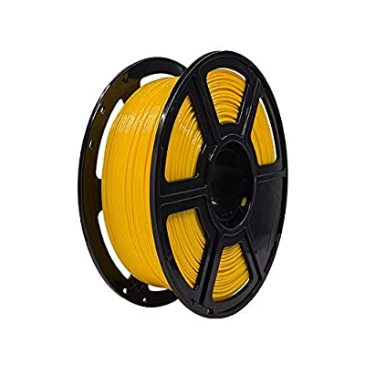 Flashforge PETG 1.75mm 3D Printer Filaments 1kg Spool-Dimensional Accuracy +/- 0.05mm for Finder and Creator Pro (Yellow)