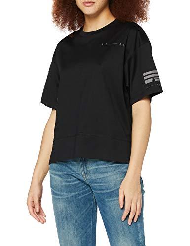 G-STAR RAW Womens Small Graphic Carrni Loose T-Shirt, dk Black C539-6484, S