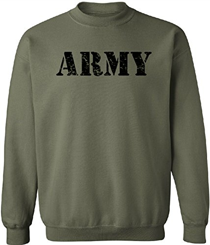Joe's USA - Vintage Army Crewneck Sweatshirts - Army Green - Medium